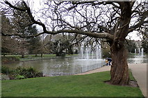 SP3165 : Pond in Jephson Gardens, Leamington by Rudi Winter