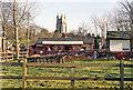 TQ8833 : Tenterden station and St Mildred's Church, 1991 by Ben Brooksbank