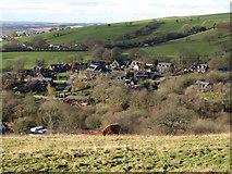 ST0084 : View west from Mynydd Meiros by Gareth James