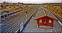 SE4081 : Thirsk station, northward down the ECML, 1993 by Ben Brooksbank
