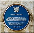 SK0394 : Lowestoft to Glossop evacuation plaque by Gerald England