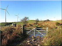 SS9985 : Gate on the Taff Ely Ridgeway walk by Gareth James