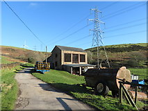 SS9984 : Farm buildings near Llanbad by Gareth James