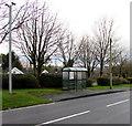 SN1206 : CCTV cameras near a bus shelter, Pentlepoir by Jaggery