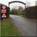 ST1783 : Entrance road to Parc Cefn Onn, Lisvane, Cardiff by Jaggery