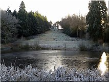 NZ1858 : Fish Pond & Banqueting House, Gibside by Andrew Curtis