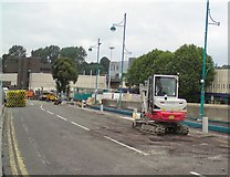 SJ8990 : Roadworks on Wellington Road South by Gerald England
