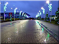 NS6163 : Celtic Park Christmas lights by Thomas Nugent