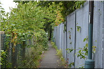 TQ2568 : Urban footpath, Morden by N Chadwick
