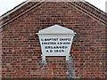 SK4731 : Sawley Baptist Church, datestone by Alan Murray-Rust