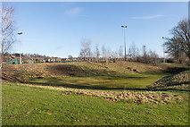 SU4828 : Soakaway, Winchester Sports Stadium by Peter Facey