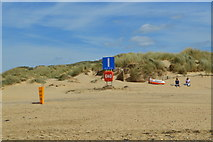 TQ9618 : Camber Sands - meeting point I by N Chadwick