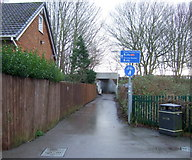 TA2047 : Access path to the Trans Pennine Trail, Hornsea by JThomas