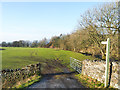 NY6305 : Route of public footpath on south side of River Lune by Trevor Littlewood