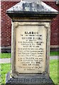 SJ7697 : Henry Hall's memorial stone (front inscription) by Gerald England