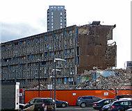 TQ3880 : Demolition of Robin Hood Gardens, Woolmore Street by Stephen Richards