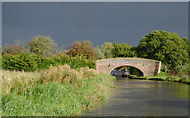 SK0220 : Taft Bridge south-east of Little Haywood, Staffordshire by Roger  Kidd
