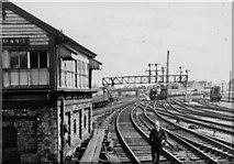 TQ2282 : Willesden Junction, eastward to West London Junction, 1962 by Ben Brooksbank