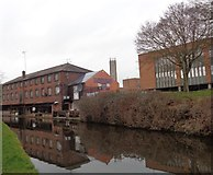 SO8171 : Former warehouses by Staffordshire & Worcestershire Canal by Jeff Gogarty