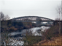 SE4326 : Disused iron railway bridge by derek dye