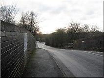 SP0293 : Road above the rails below by Martin Richard Phelan