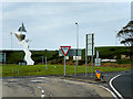 G8862 : N15, Allingham Roundabout and Morning Star Sculpture by David Dixon