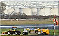 J3775 : Runway sweeper, Belfast City Airport (January 2018) by Albert Bridge