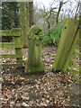 SE0938 : Old stone gatepost,  St Ives Estate by Stephen Craven