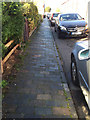 SP1955 : Old blue clay pavers and kerbs, Mansell Street, Stratford-upon-Avon by Robin Stott