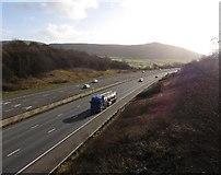 ST3857 : M5 Motorway, near Christon by Roger Cornfoot