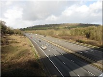 ST3857 : M5 Motorway near Christon by Roger Cornfoot