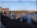 SE4226 : Castleford weir footbridge by derek dye