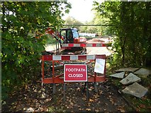 SO8843 : Footpath closed by Philip Halling
