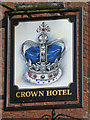 SJ9033 : The Crown Hotel in Stone (sign), Staffordshire by Roger  Kidd