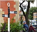 SJ7694 : Signpost at Urmston by Gerald England