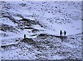 SK1283 : Walkers descending Mam Tor in wintertime : Week 3