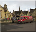 SP2512 : Parcelforce Worldwide van, Priory Lane, Burford by Jaggery