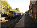 SJ9490 : Romiley railway station - crossover by Stephen Craven