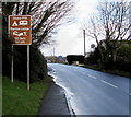 SN1107 : Brown sign 50 yards from Stone Pitt and Manian Lodge, Begelly by Jaggery