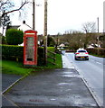 SN1107 : Former phonebox alongside the A478, Begelly by Jaggery