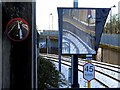 NZ2765 : End of platform mirrors, Chillingham Road Metro Station by Andrew Curtis