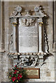 SK9136 : St Wulfram, Grantham - Wall monument by John Salmon