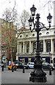 TQ2980 : Lamp standard, Charing Cross Road by Stephen Richards