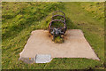 SW3821 : Mast base, Pedn-mên-an-mere by Ian Capper