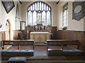 SE5867 : St Nicholas, Stillington - Sanctuary by John Salmon