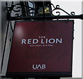 SP0587 : Red Lion UAB name sign, Hockley, Birmingham by Jaggery