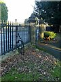 SK4330 : Gateway and railings at St James Church, Shardlow by Alan Murray-Rust