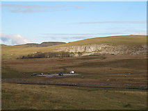 SD8965 : Looking down on Malham Tarn car park by Stephen Craven