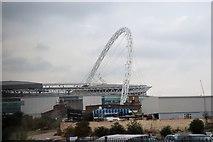 TQ1985 : Wembley Stadium Arch by N Chadwick