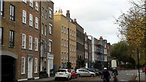TQ3680 : Narrow Street, Limehouse by Chris Brown